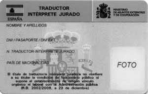 Carné de traductor intérprete jurado
