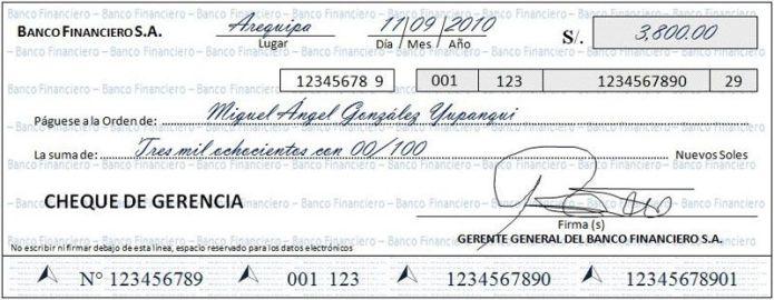 Cómo llenar un cheque