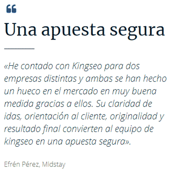 Opiniones Kingseo