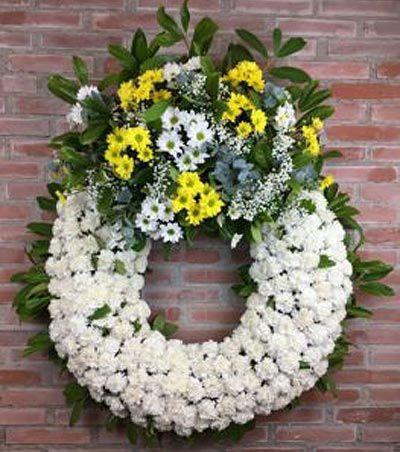 Coronas de flores para entierros