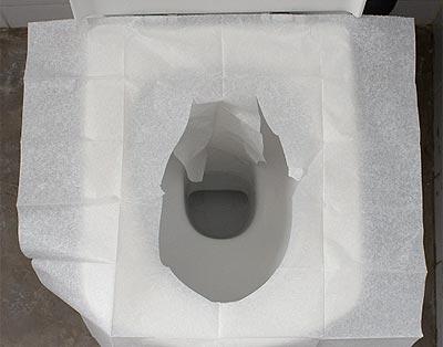 Cómo usar un protector de WC