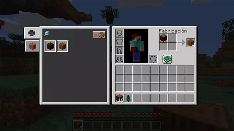 Fabricación en Minecraft
