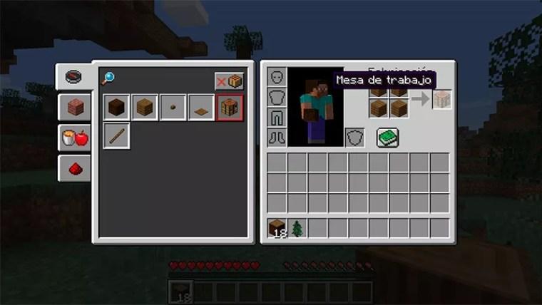 Mesa de trabajo en Minecraft