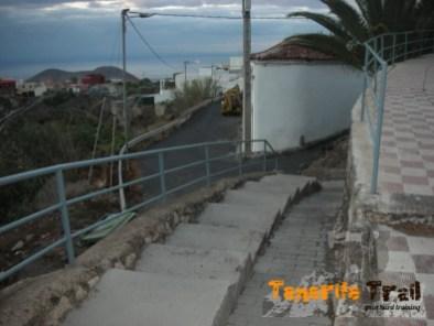 Detalle de la calle que te lleva al Camino Real del Sur en la salida de Güímar