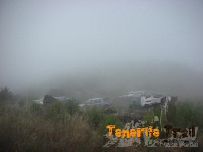 Detalle de la niebla en la Cumbre del Bolico