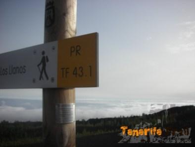 Cartelería del PR TF 43 posibilidad de ir a San José de Los Llanos desde el Chinyero