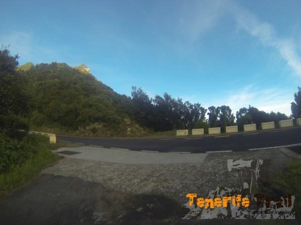 Ojo carretera TF-123 la cruzamos y en frente la salida del sendero