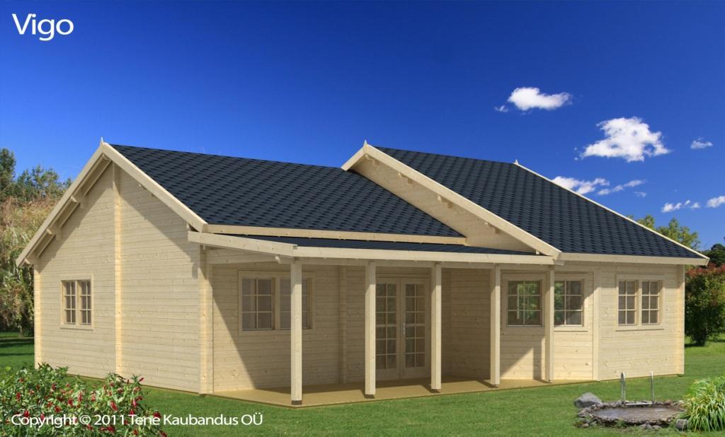 Casa de madera modelo Vigo 96m2  Grupo Tene  Casetas de