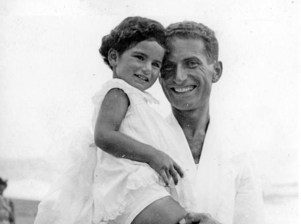 Liliana Segre con il papa' Alberto