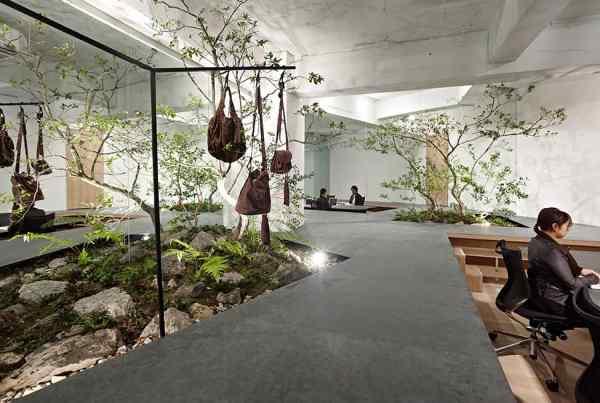 Showroom immerso nel verde