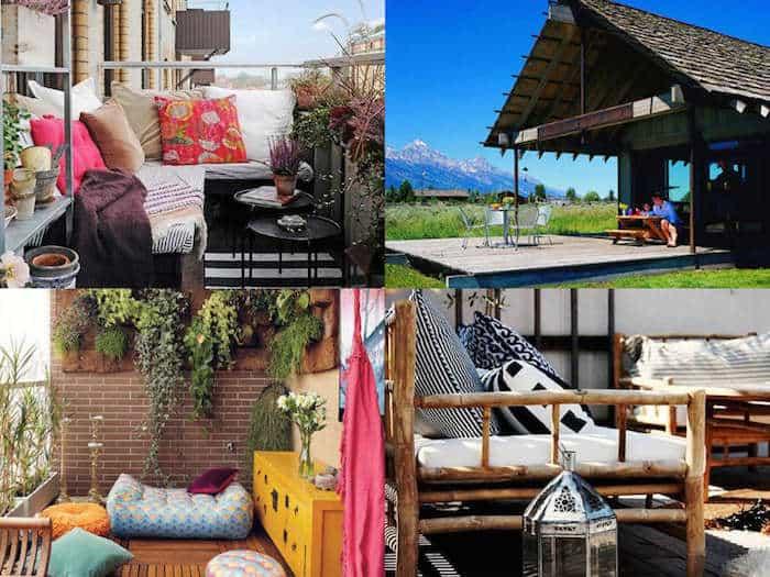 Simple idee per arredare balconi terrazzi e verande with for Decorazione giardini stile 700