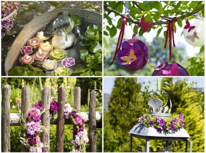 Idee fai da te per decorare il giardinou senza spendere