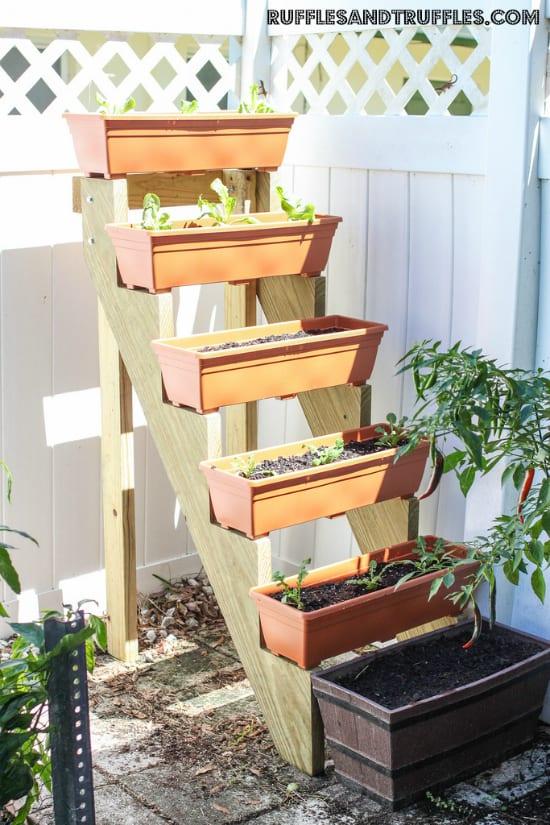Struttura fai da te per il giardinaggio verticale
