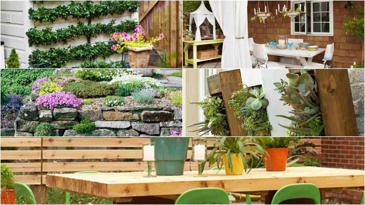 15 idee economiche per decorare il giardino guida giardino - Idee per recinzioni giardino ...