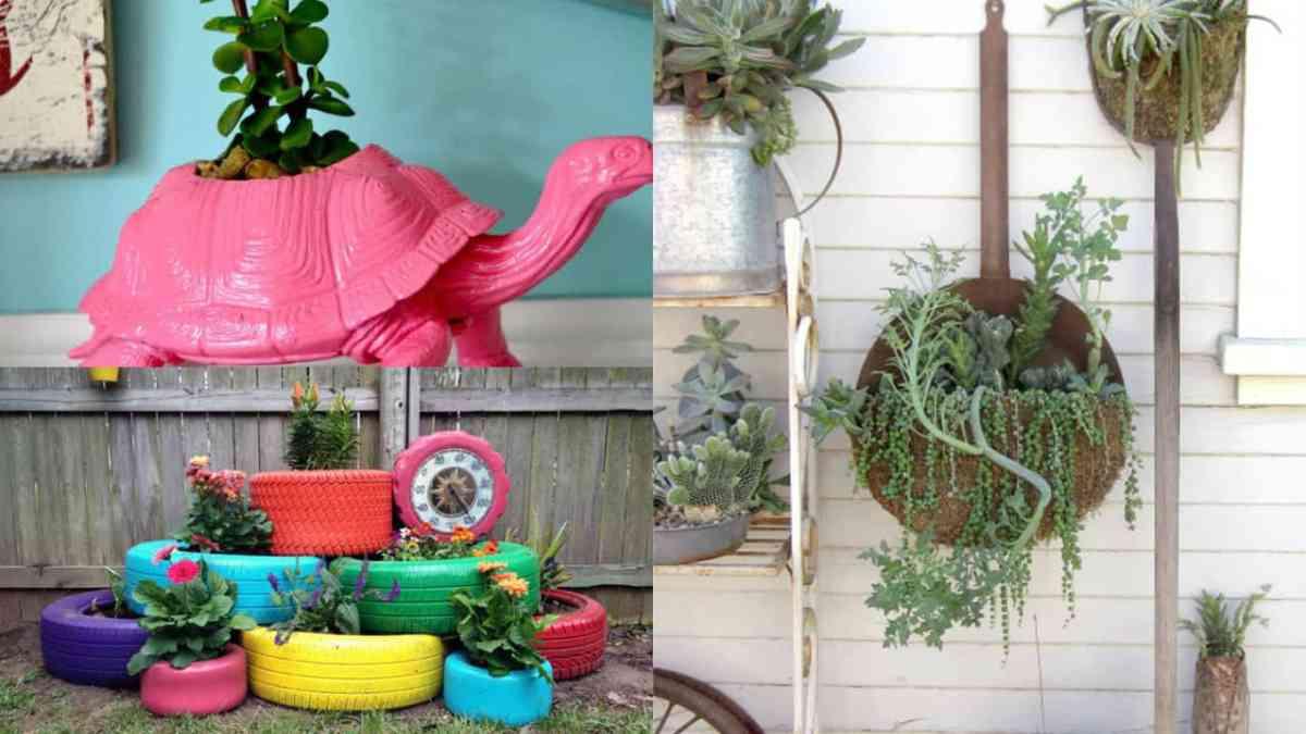 Fai da te 10 fioriere davvero originali guida giardino for Fioriere fai da te