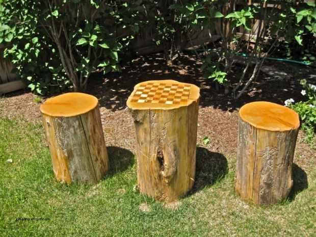 scacchiera di legno fai da te per il giardino