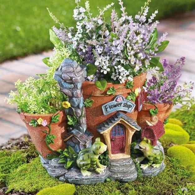 Mini garden di fiori e creatività
