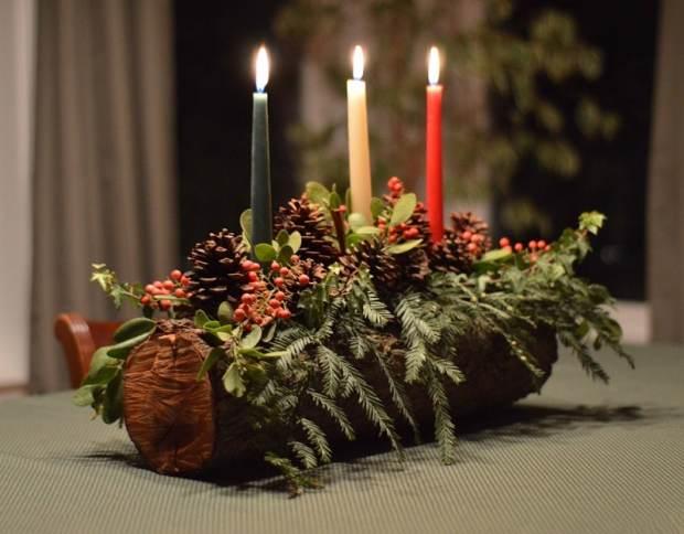 centrotavola natalizio fa da te a tema rustico