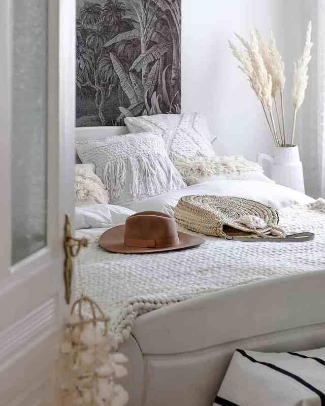 erba della Pampa in camera da letto