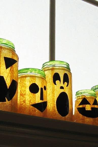 lanterna fai da te a tema Halloween