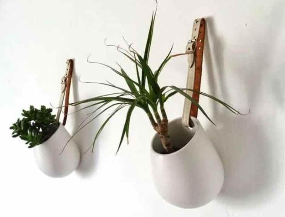 Cinture per appendere i vasi alle pareti