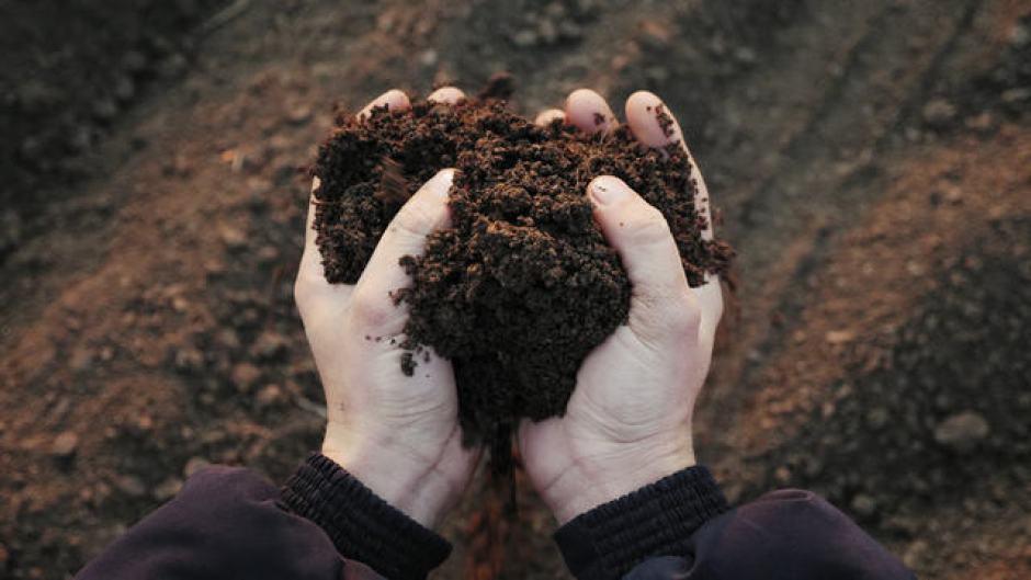 Tastare la terra dell'orto è molto importante per capirne le caratteristiche.
