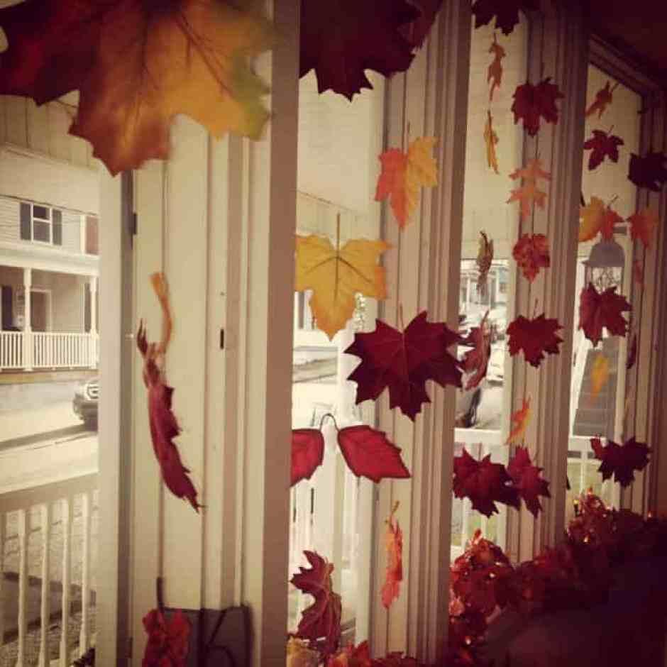 decorazioni autunnali per le finestre