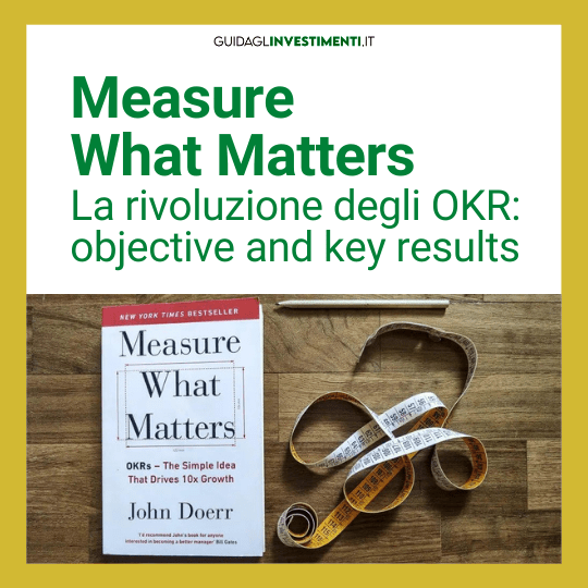 libro measure what matters con metro sarta e matita guidaglinvestimenti.it