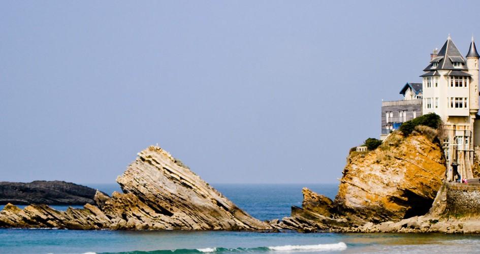 Biarritz tourisme  visiter rocher de la vierge location vacances Biarritz 64200
