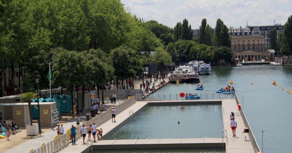 Paris  la baignade est ouverte au bassin de la Villette