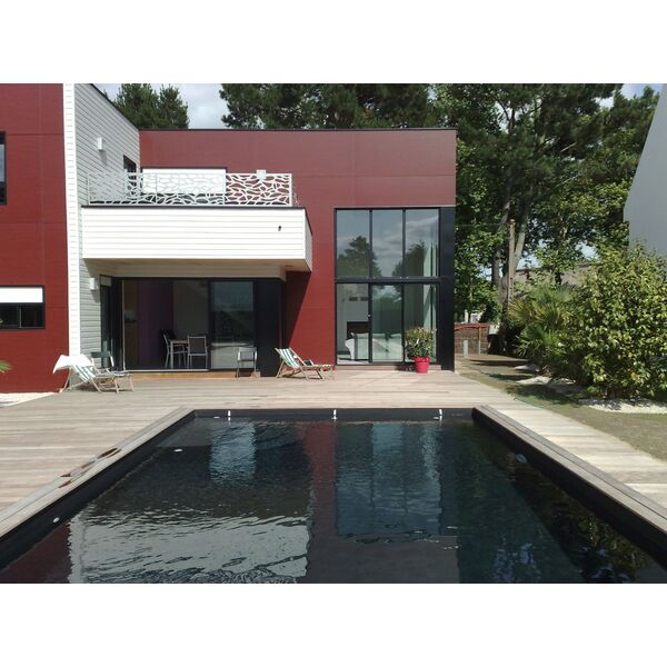 Piscine crative revtement PVC noir Piscines de France