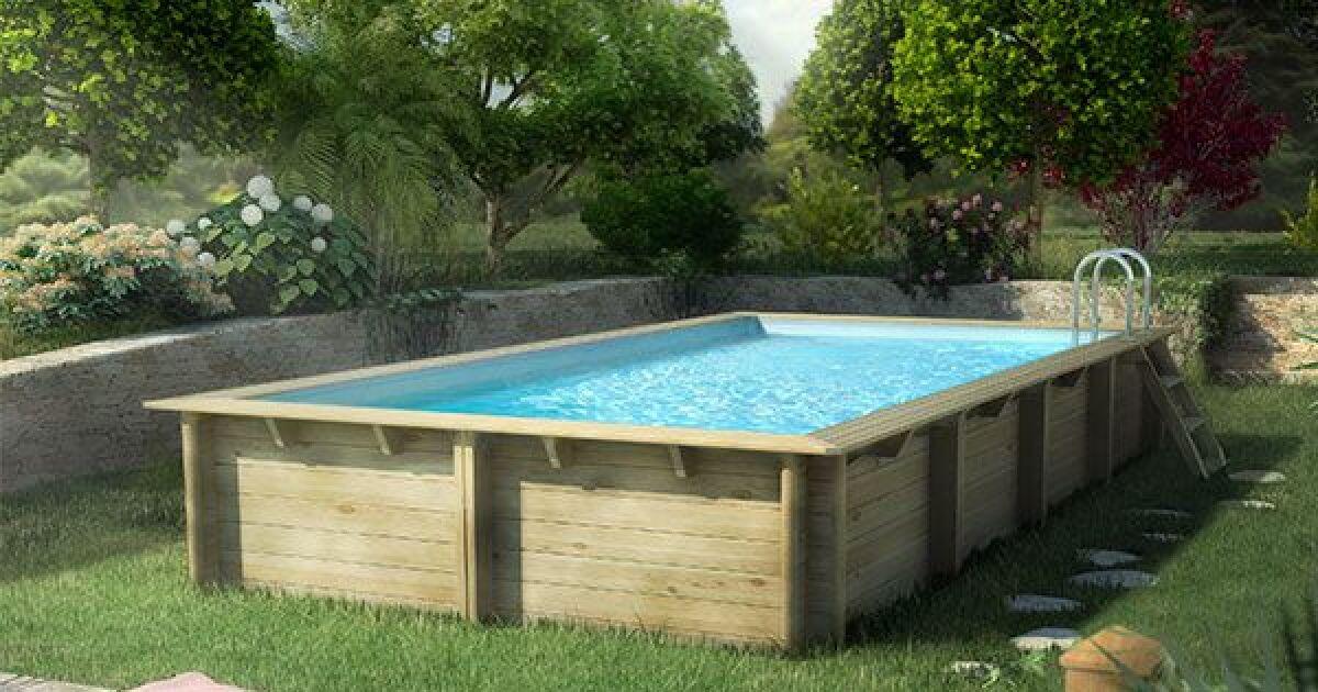 photos des plus belles piscines hors sol en bois piscine hors sol en bois cerland weva rectangulaire de piscine center