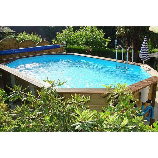 piscine hors sol en bois cerland weva octogonale