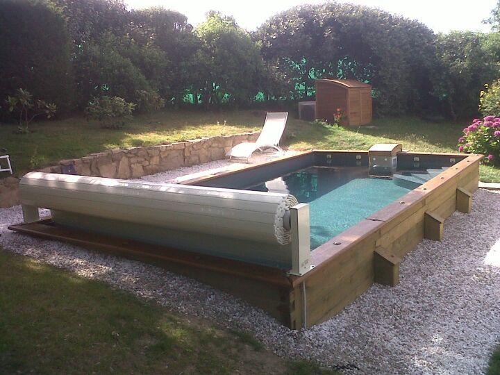 une piscine semi enterree pas cher