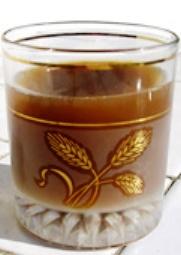 Mazout ou le Gasoil ou le Goudron, à base de pastis et soda au cola.
