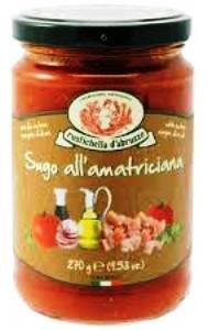 Sauce all'amatriciana rustichella d'abruzzo