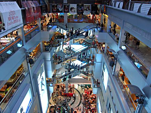 Centre commercial à Bangkok