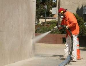 Nettoyage de façade par sablage