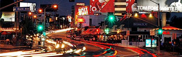Sunset Strip by night