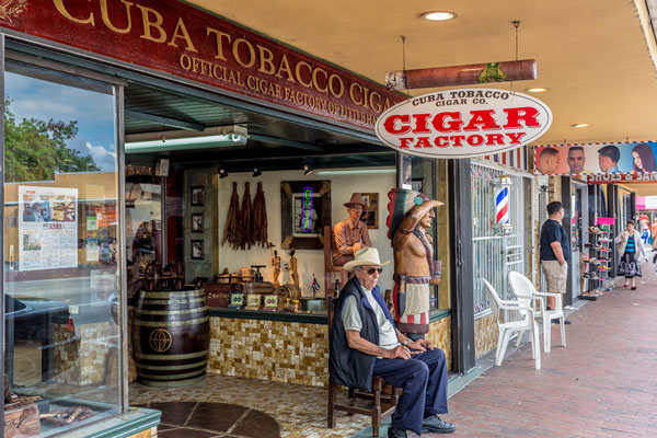 Cubansk cigarbutik Miami
