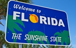 Florida The Sunshine State Sign