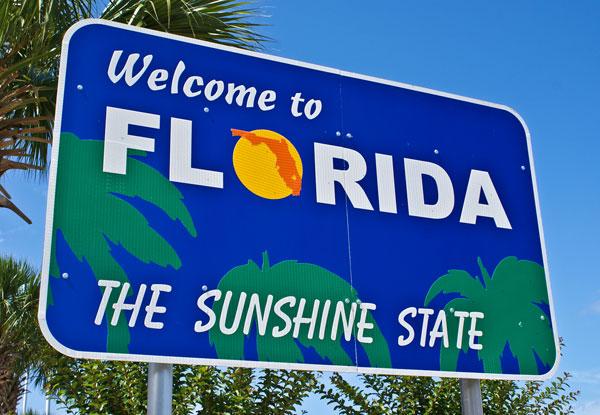 Florida The Sunshine State Sign