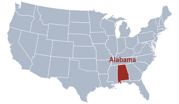 Alabama kort