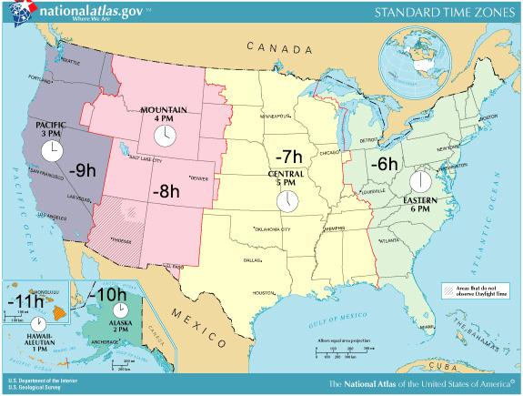 Tidszoner i USA