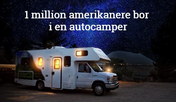 Amerikanere bor i autocamper RV