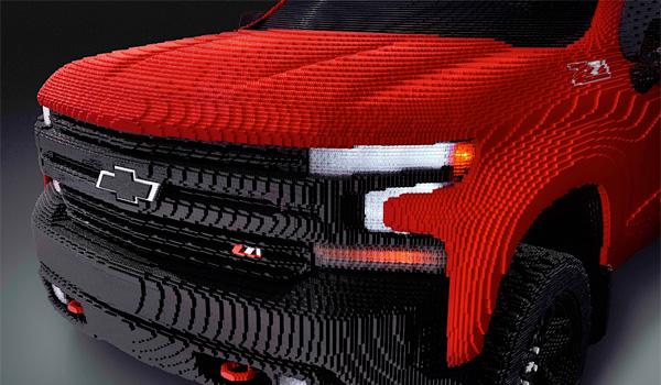 Lego Chevy Silverado front