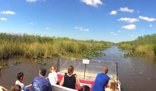 Airboat i Everglades