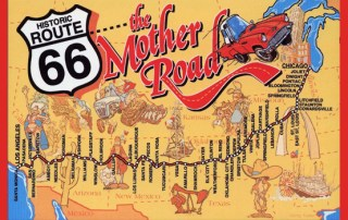 Route 66 - The Mother Road kort