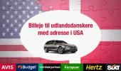 Udlandsdansker billeje i Danmark (med USA adresse)