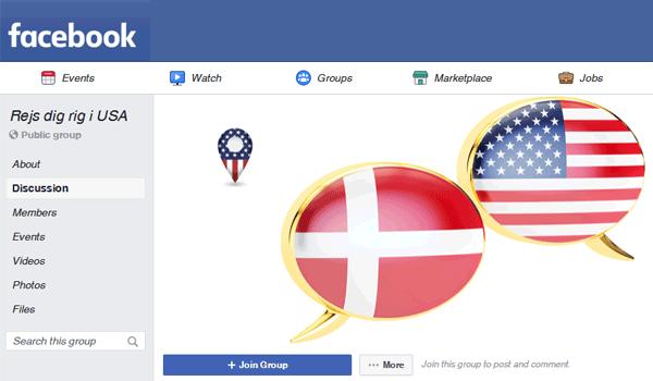 Facebook gruppe rejsetips USA